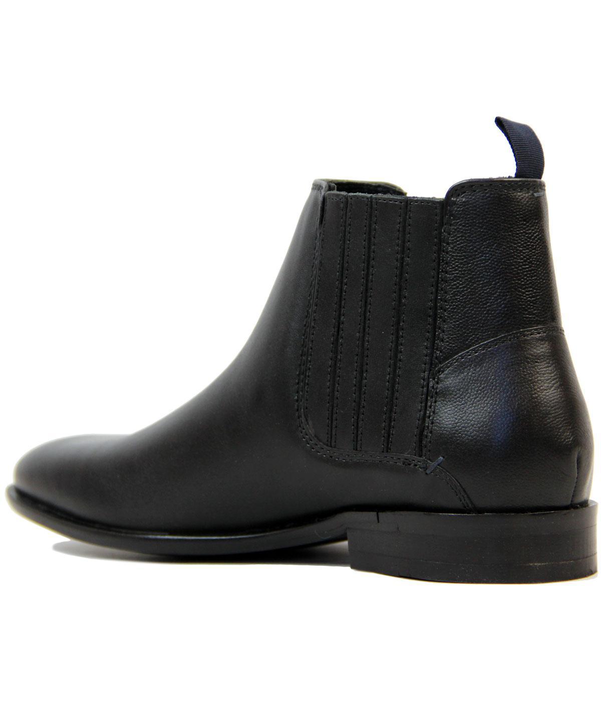 515f1019f99 Rame BEN SHERMAN Retro Mod Leather Chelsea Boots