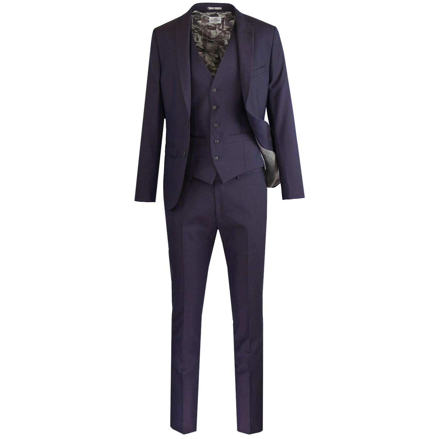 BEN SHERMAN Mod Tonic Scooter Suit in Aubergine