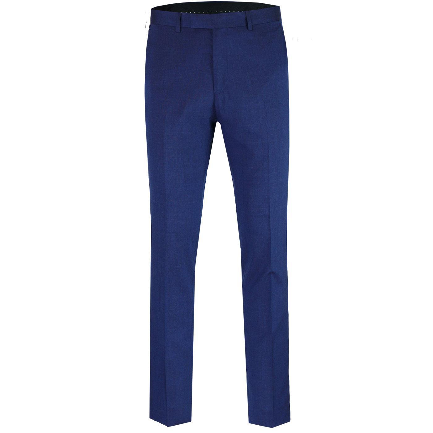 BEN SHERMAN Tailoring Mod Tonic Suit Trousers BLUE