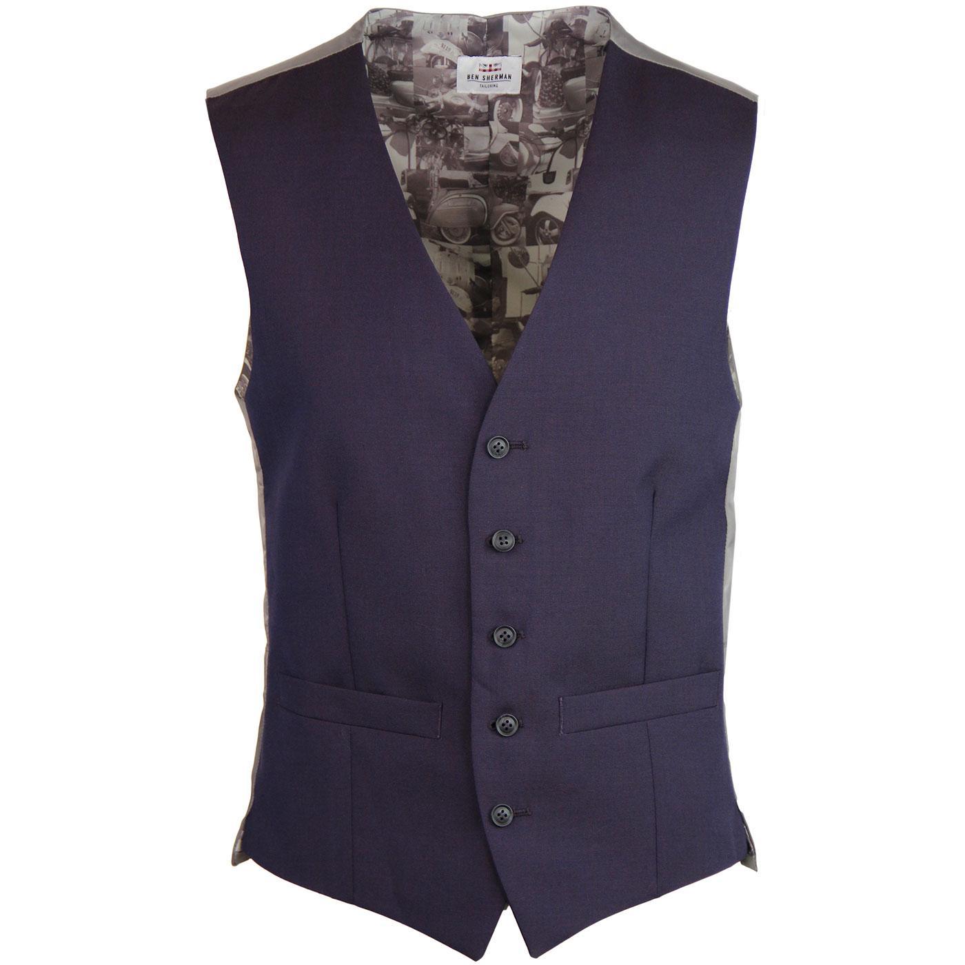 BEN SHERMAN Tailoring 60s Mod Tonic Waistcoat (A)