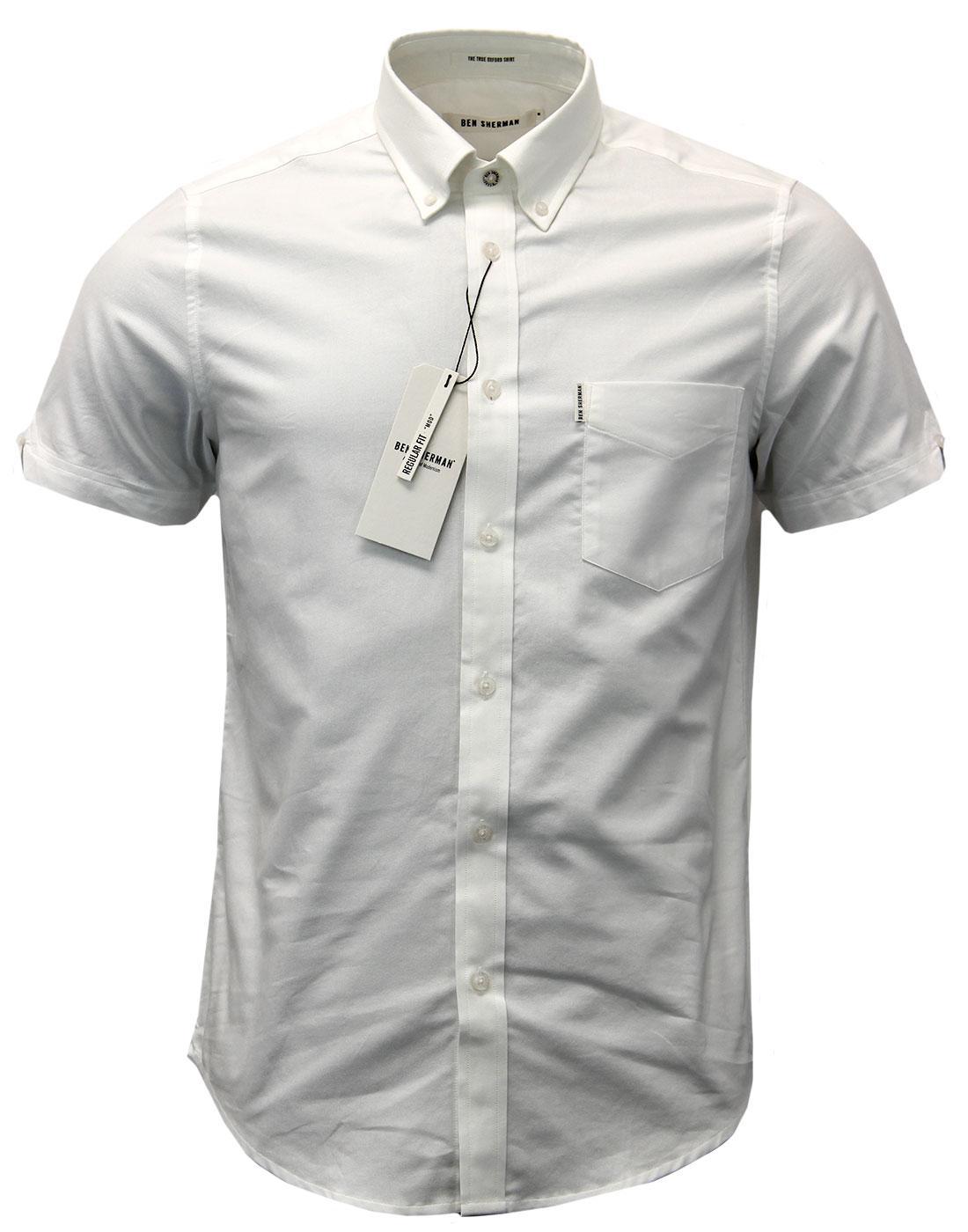 BEN SHERMAN Retro Mod S/S True Oxford Shirt (BW)
