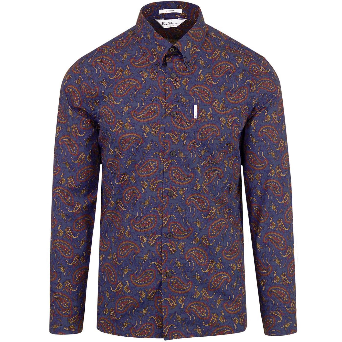 Vega BEN SHERMAN 1980s Mod Paisley Archive Shirt
