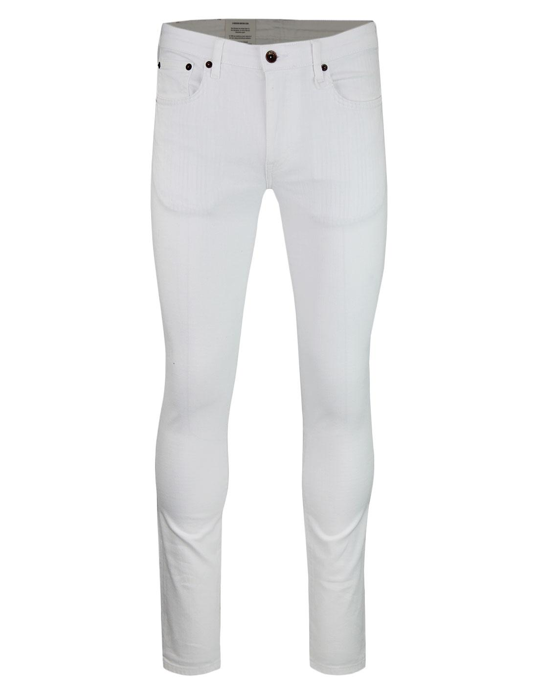 BEN SHERMAN Men's Retro Mod White Skinny Jeans