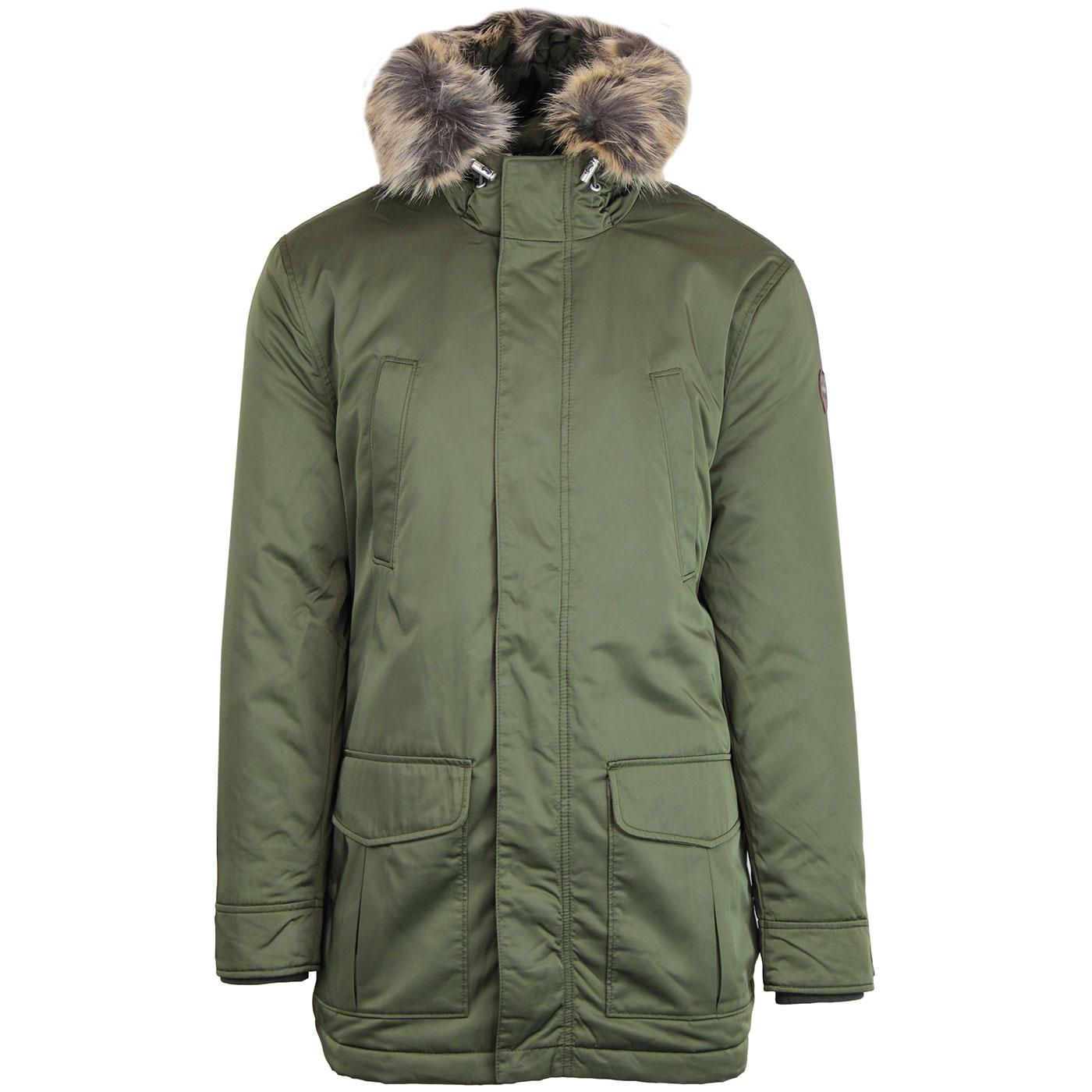 BEN SHERMAN Men's Mod Padded Winter Parka GREEN