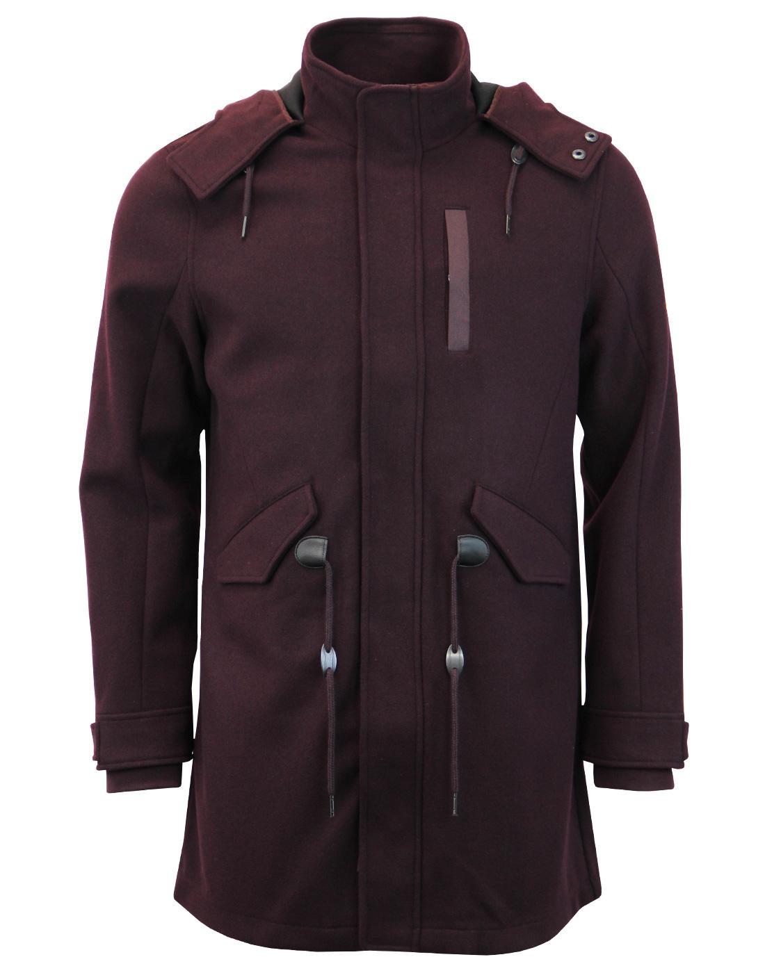 BEN SHERMAN Retro Mod Bonded Wool Parka Jacket (W)
