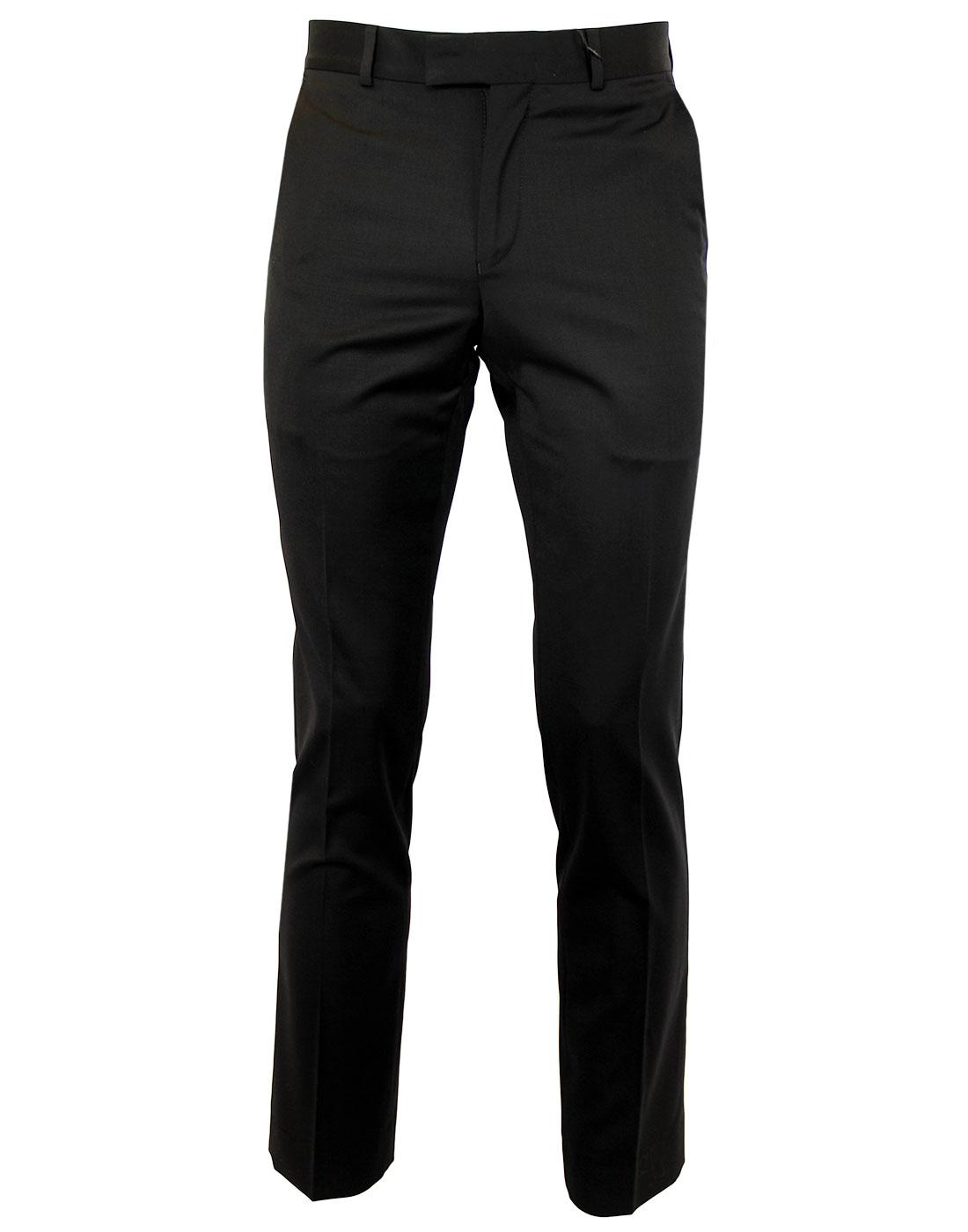 BEN SHERMAN Tailoring Mod Slim Black Trousers