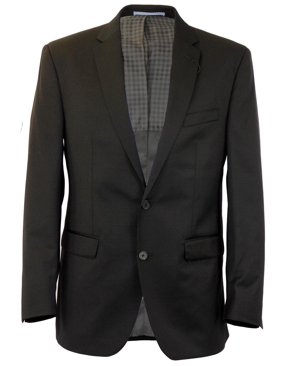 cb4a6262741e11 BEN SHERMAN Tailoring 60s Mod 2 Button Notch Lapel Suit Jacket