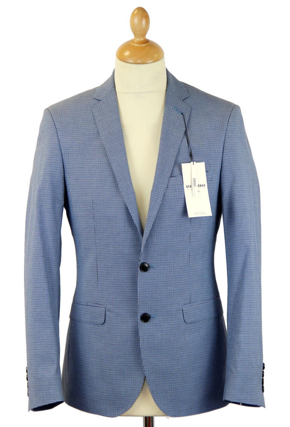 BEN SHERMAN Tailoring Mod Micro Check Notch Suit