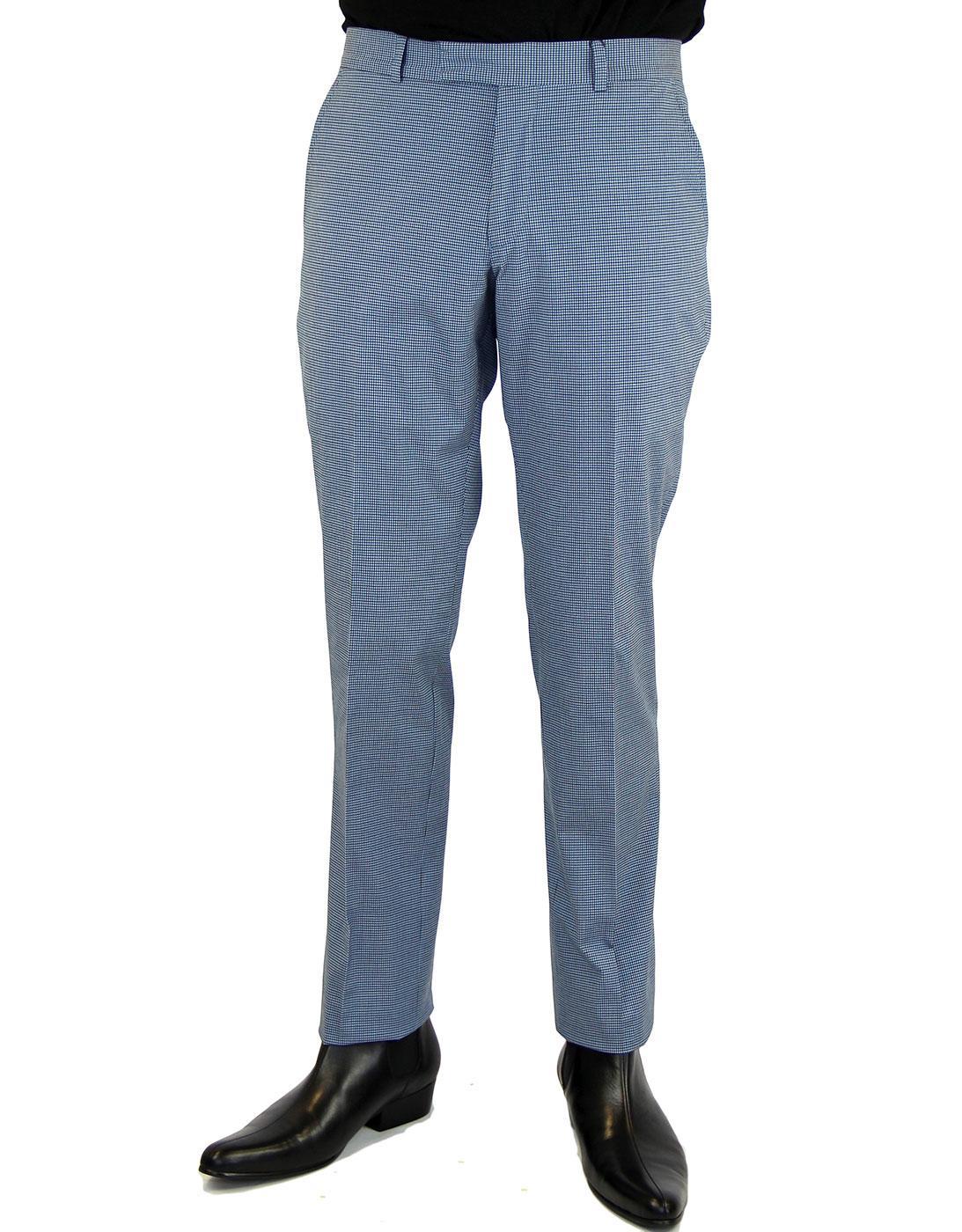 BEN SHERMAN Tailoring Mod Micro Check Trousers NSB