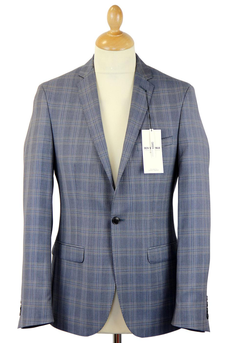 BEN SHERMAN Prince of Wales Check Suit Jacket