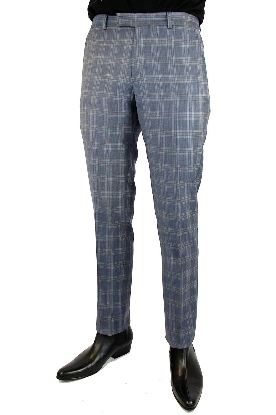 BEN SHERMAN Tailoring Retro Mod POW Check Trousers