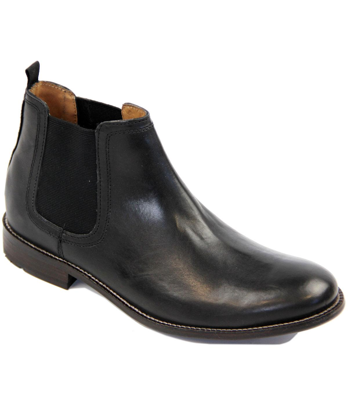 e3761df2376 Ista BEN SHERMAN Mod Smooth Leather Chelsea Boots