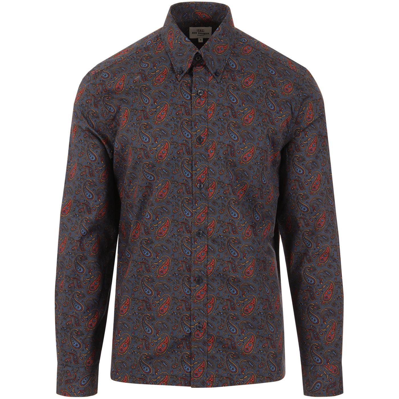 BEN SHERMAN 60s Mod Classic Paisley Print Shirt DN