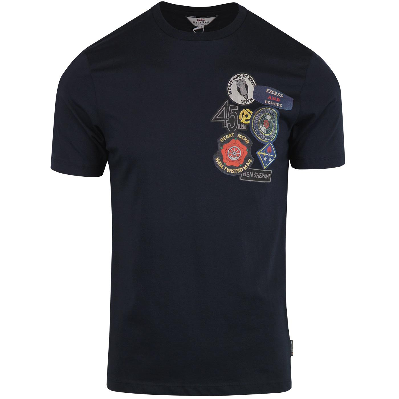 BEN SHERMAN Retro Northern Soul Badge T-Shirt