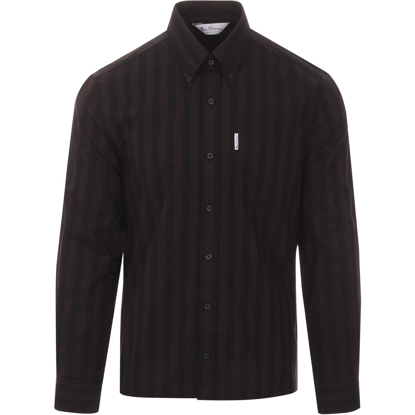 BEN SHERMAN Archive Candy Stripe Oxford Shirt A