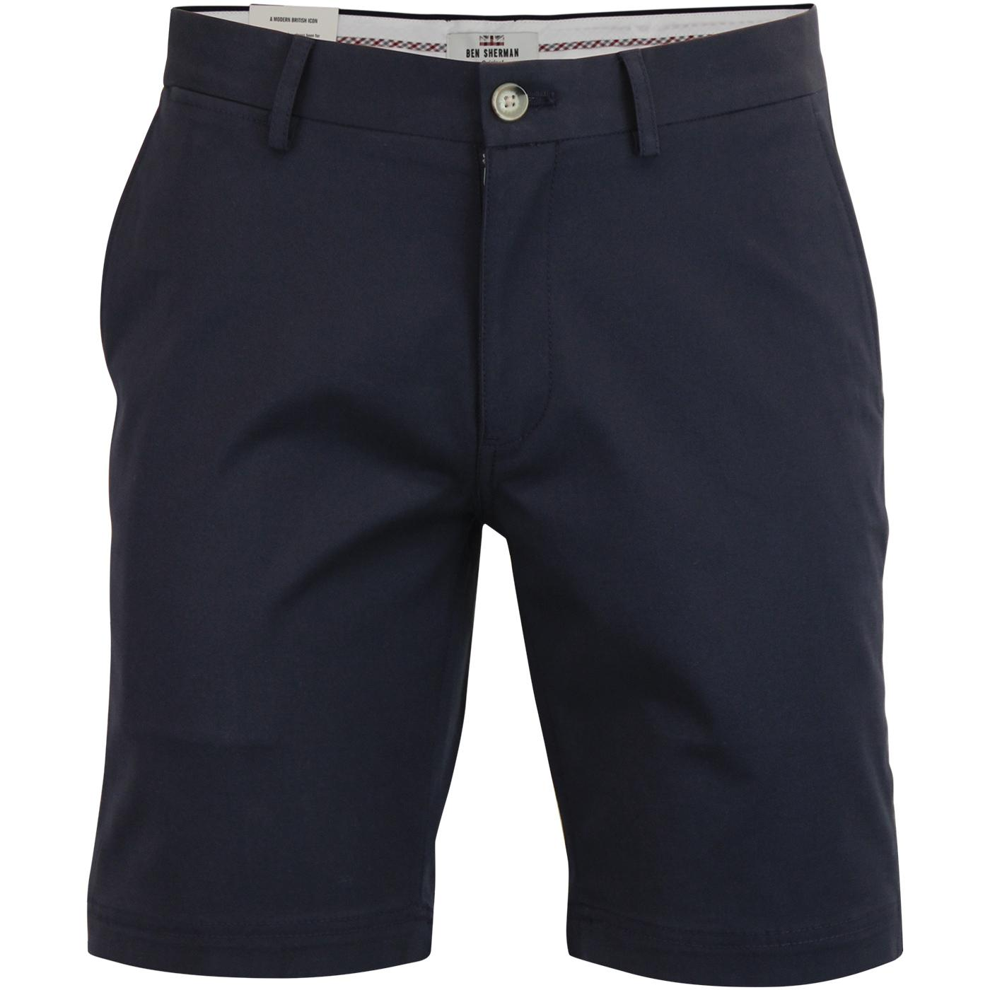 BEN SHERMAN Men's Retro Mod Chino Shorts NAVY