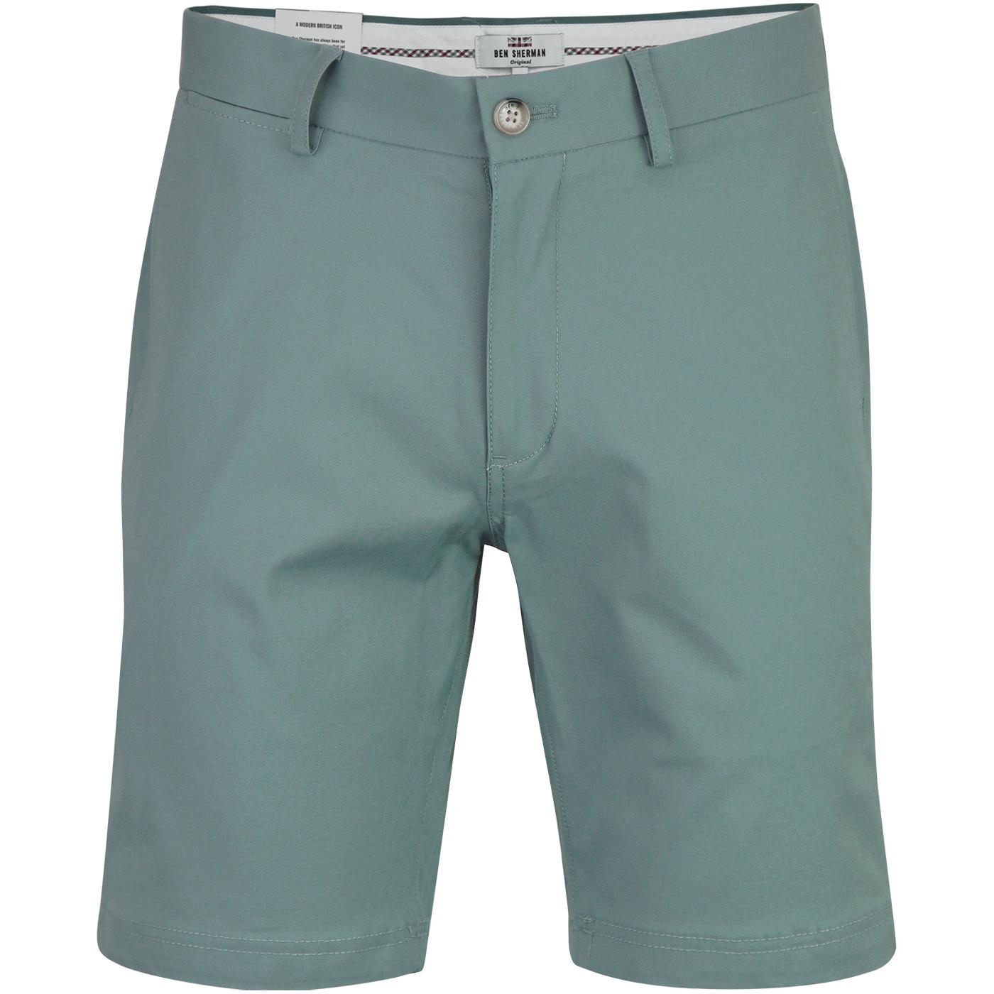BEN SHERMAN Men's Retro Mod Chino Shorts (Teal)