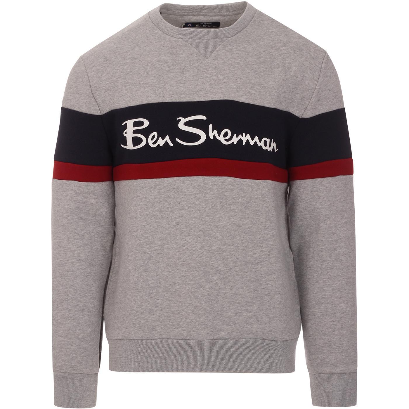 BEN SHERMAN Men's Retro 80s Sports Logo Sweatshirt