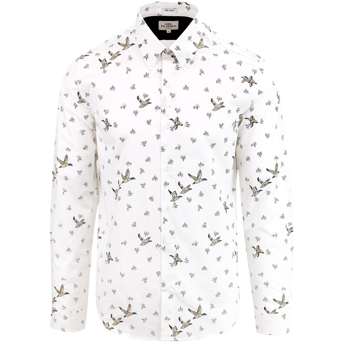 BEN SHERMAN Men's Mod Duck Print Button Down Shirt