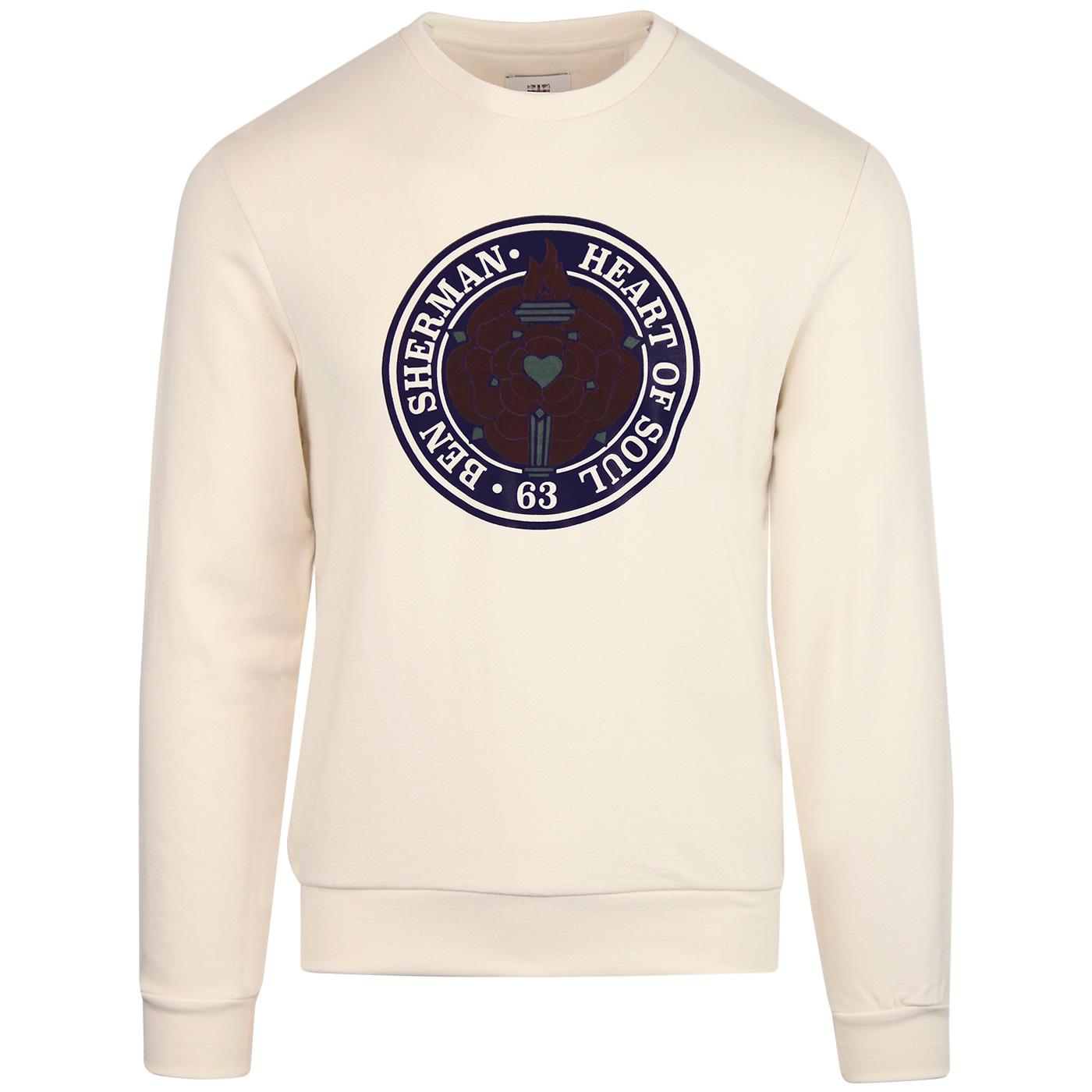 BEN SHERMAN Northern Soul Rose Sweatshirt BEIGE