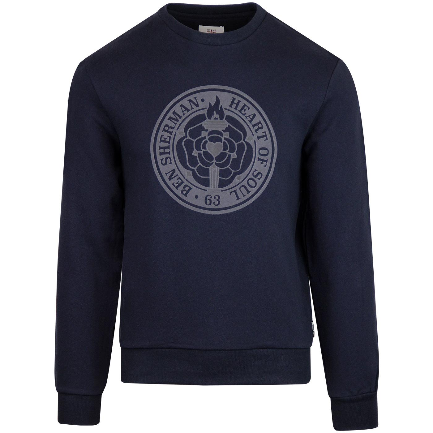 BEN SHERMAN Northern Soul Flock Rose Sweatshirt DN
