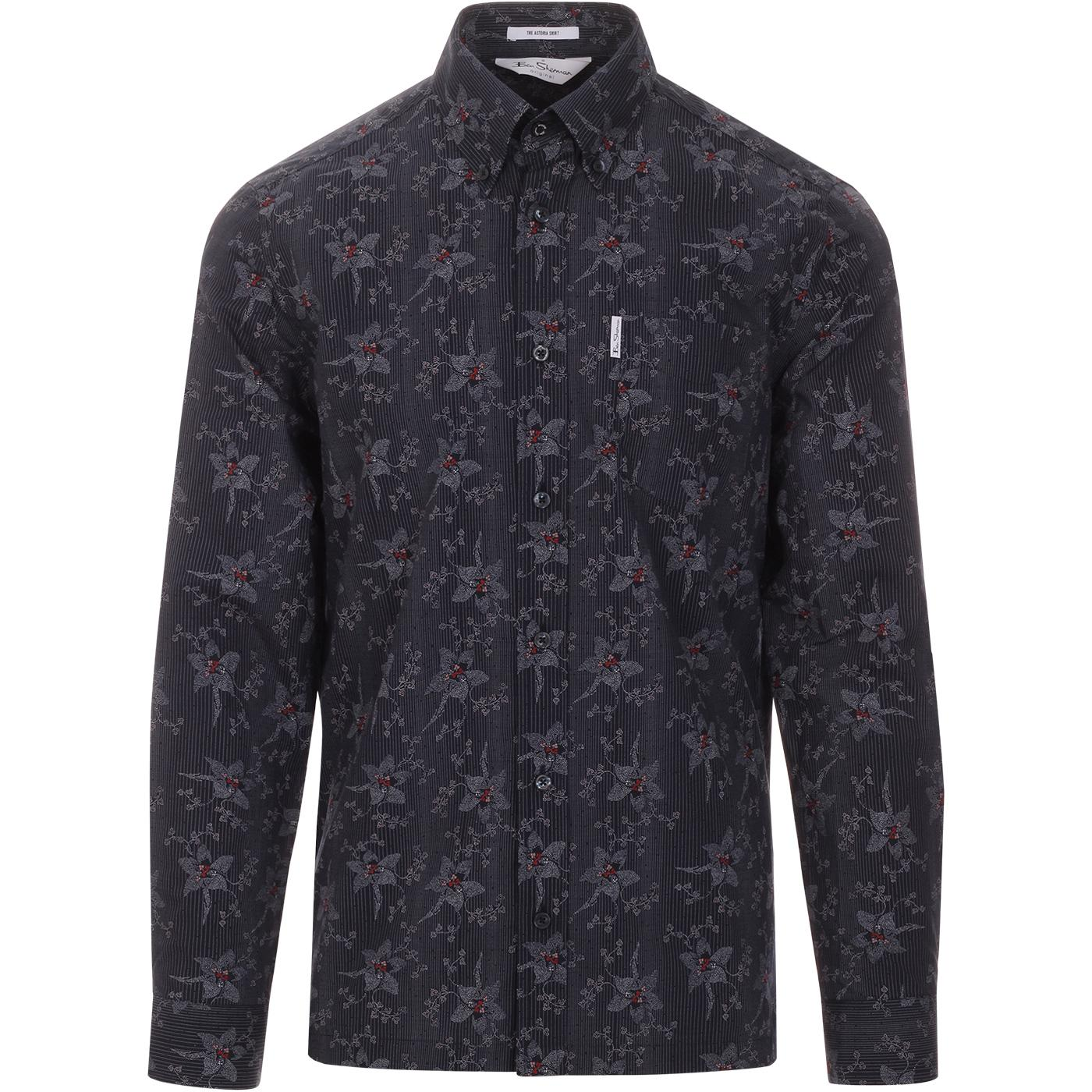 Astoria BEN SHERMAN Archive 1970s Floral Shirt