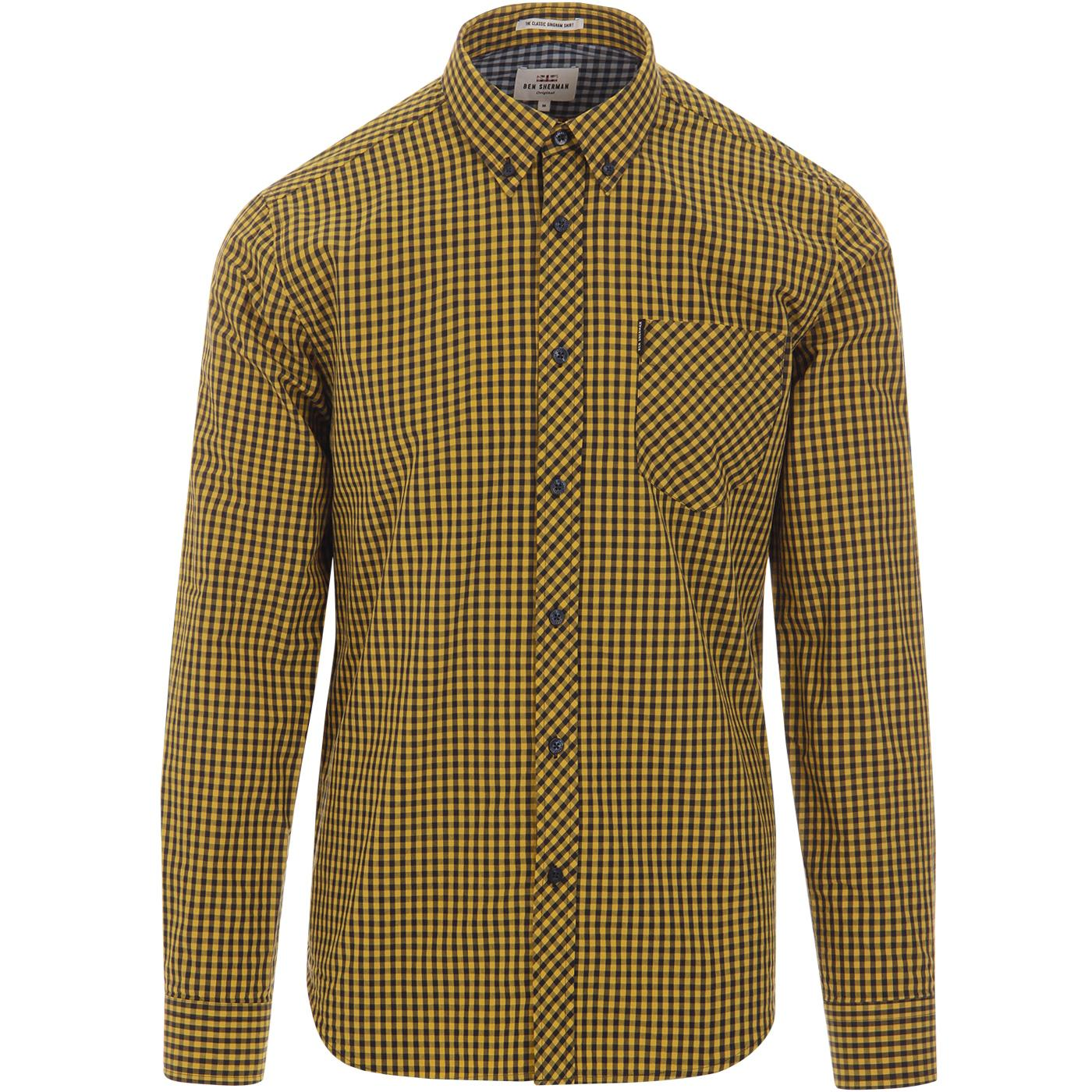 BEN SHERMAN Classic Retro Mod Gingham Check Shirt