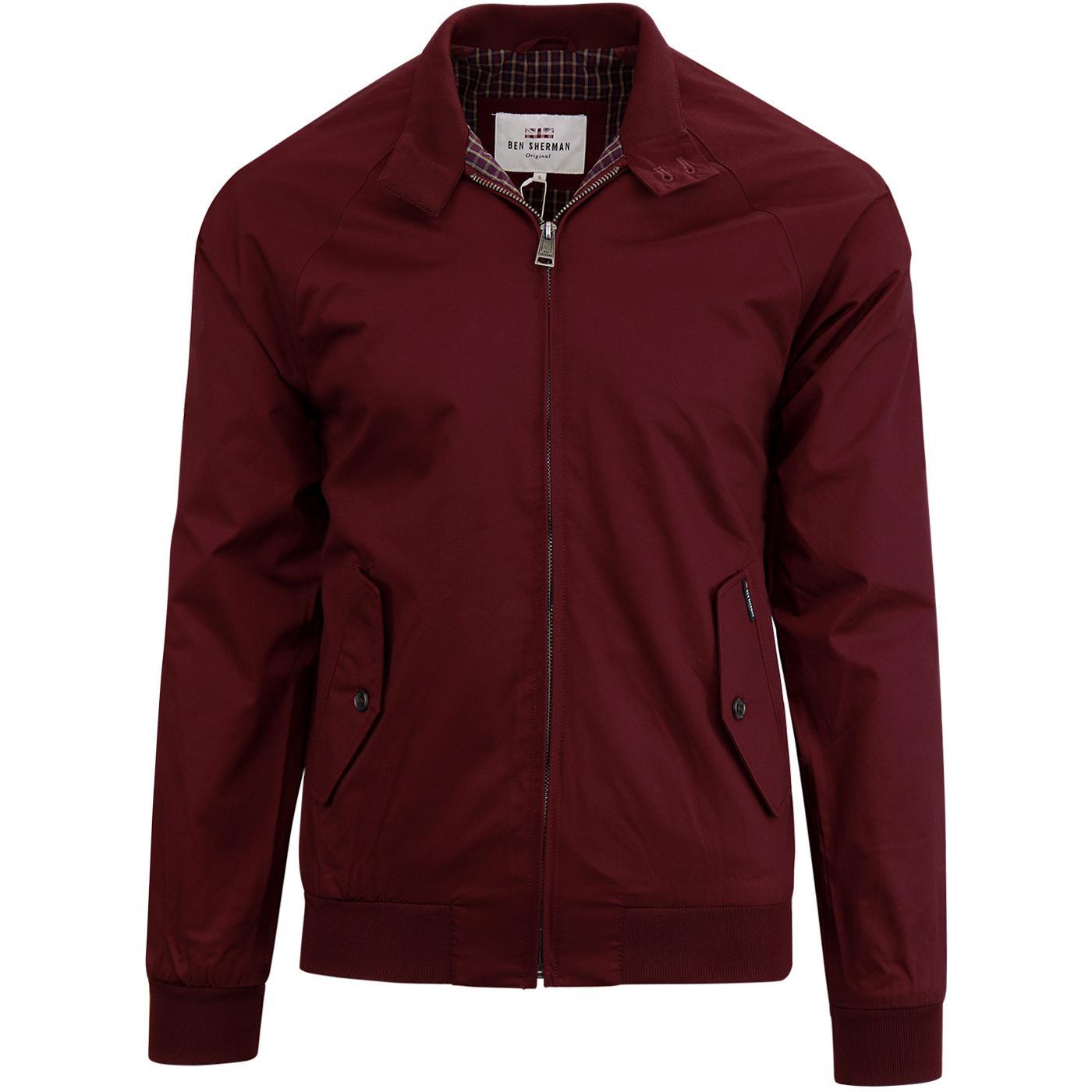 BEN SHERMAN Retro Mod Harrington Jacket (Port)