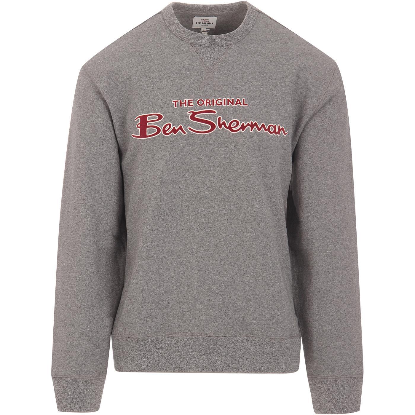 BEN SHERMAN Archive Flock Print Retro Sweatshirt A