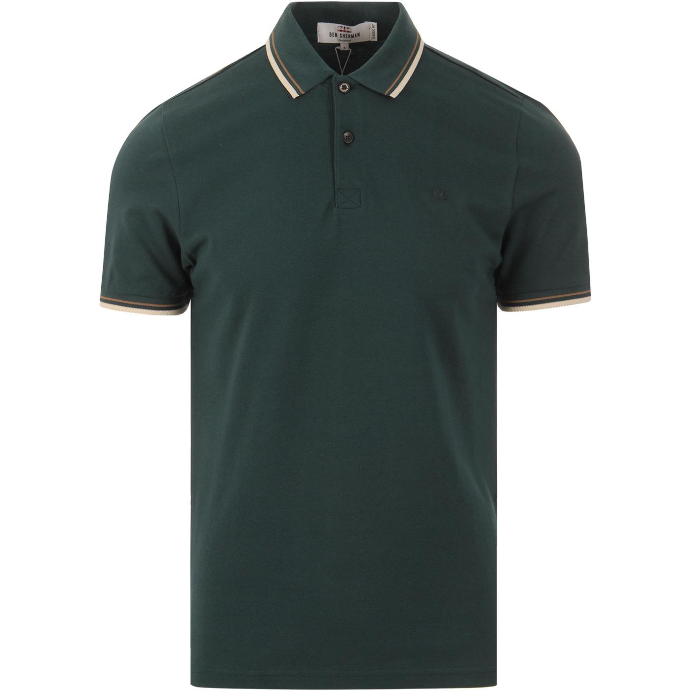 Romford BEN SHERMAN 60's Retro Mod Tipped Polo TG