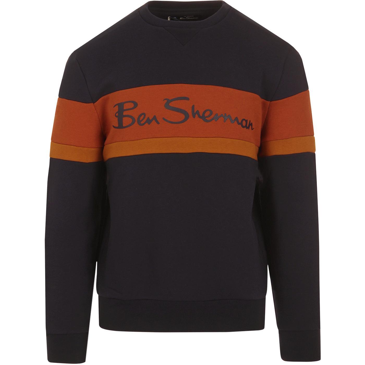 BEN SHERMAN Mens Retro Sports Logo Sweatshirt DN