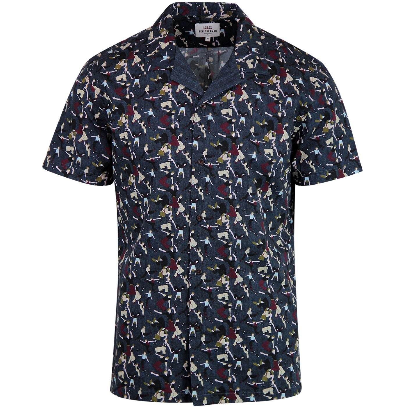 BEN SHERMAN Retro Northern Soul Dancers Shirt