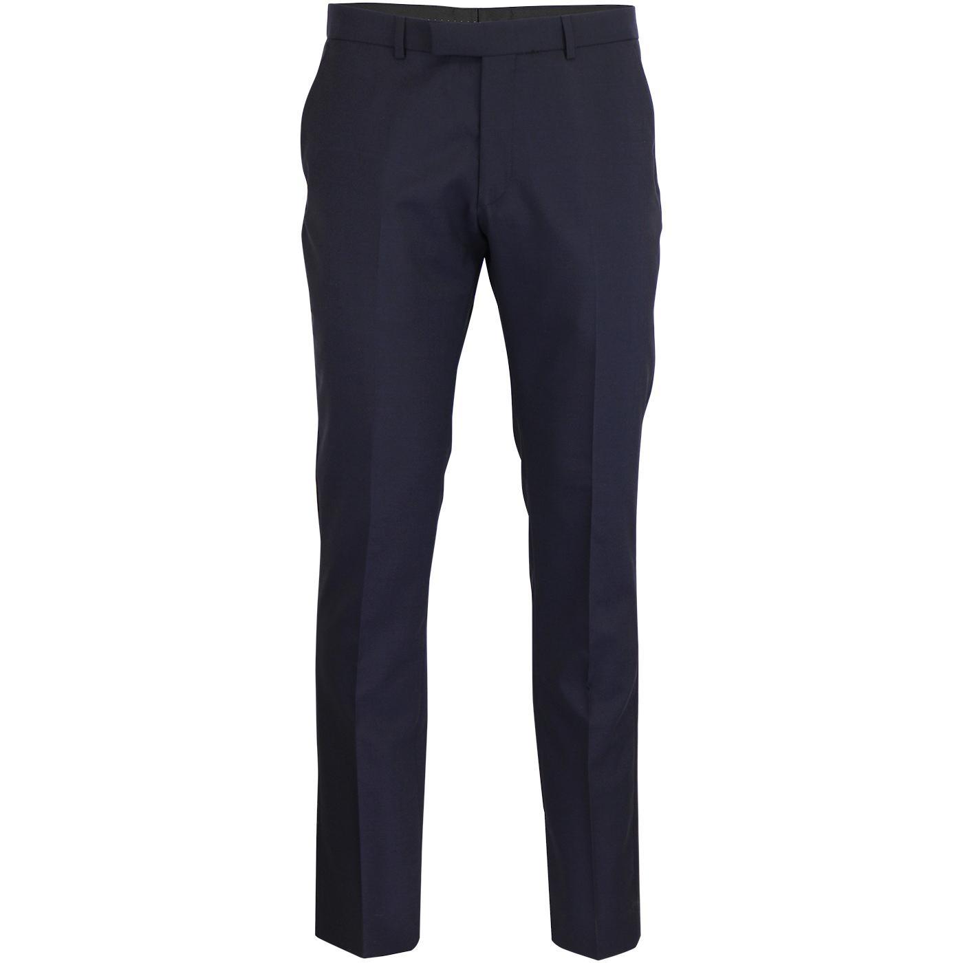 BEN SHERMAN Mod Tonic Suit Trousers (Blue Depths)