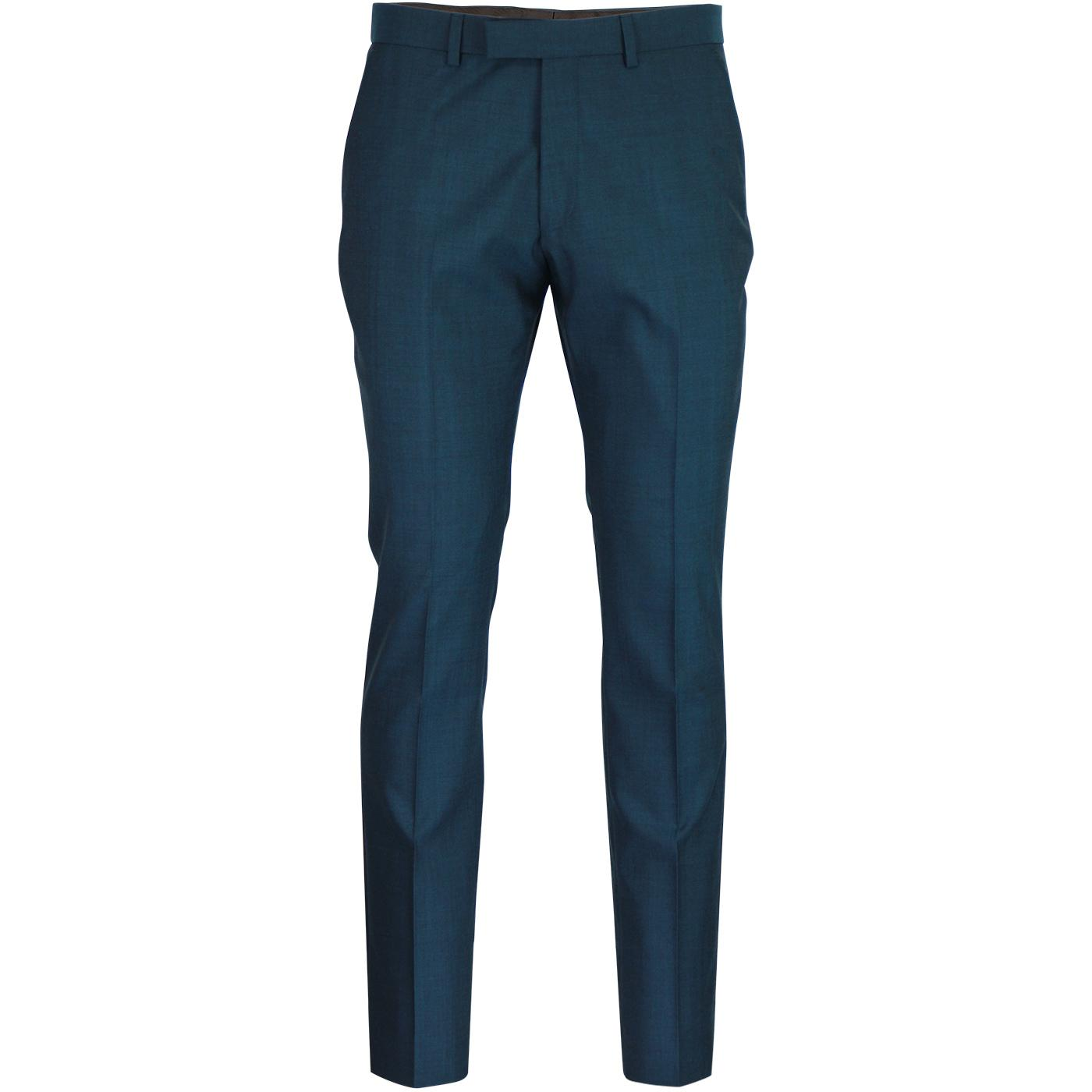 BEN SHERMAN Men's Mod Tonic Suit Trousers (Teal)