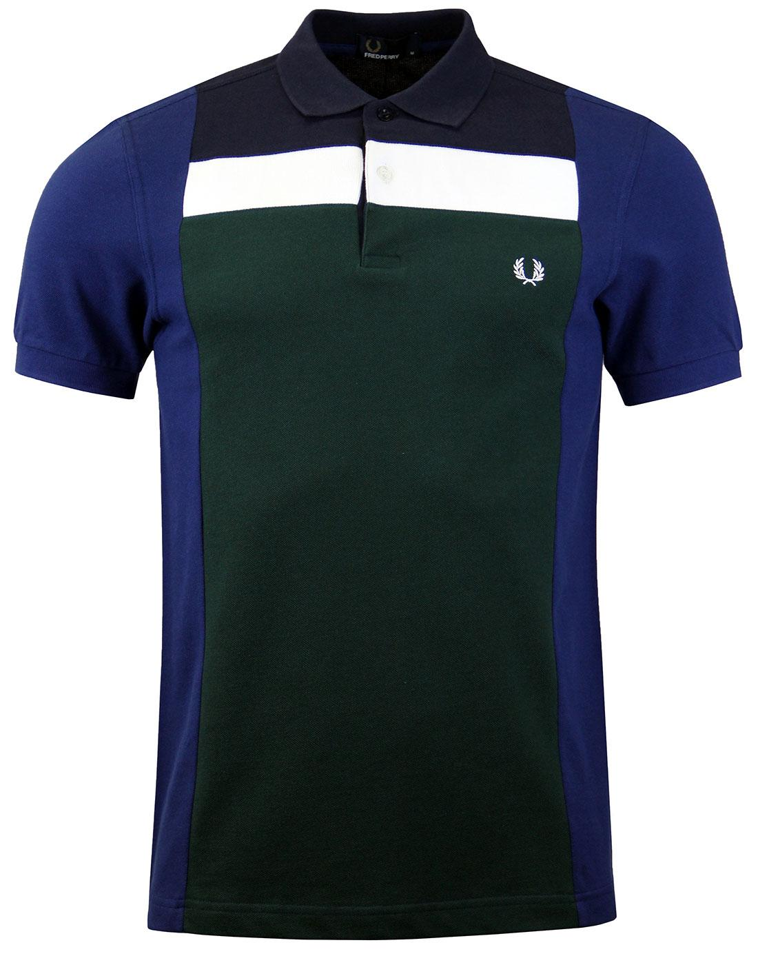 FRED PERRY M2589 Block Panel Pique French Navy