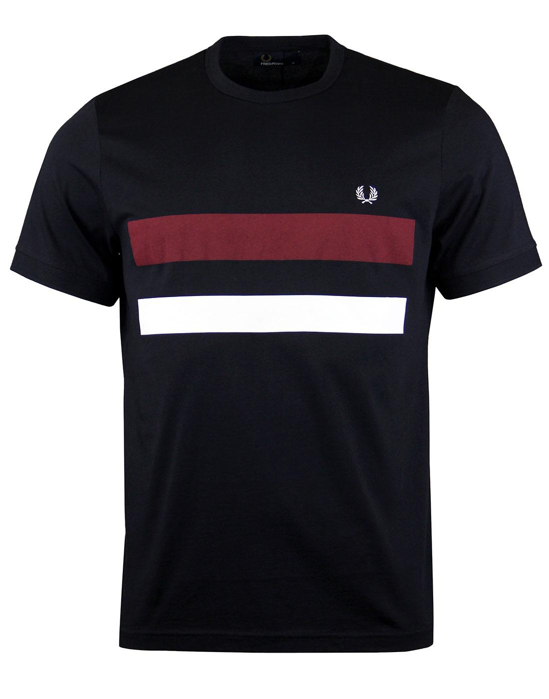 FRED PERRY M2595 Bold Print Tipped Tee Navy