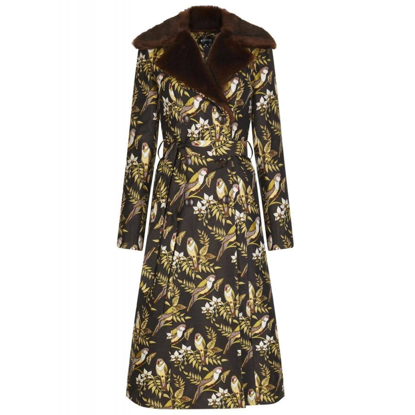 Caron BRIGHT & BEAUTIFUL Jacquard Bird Coat Brown