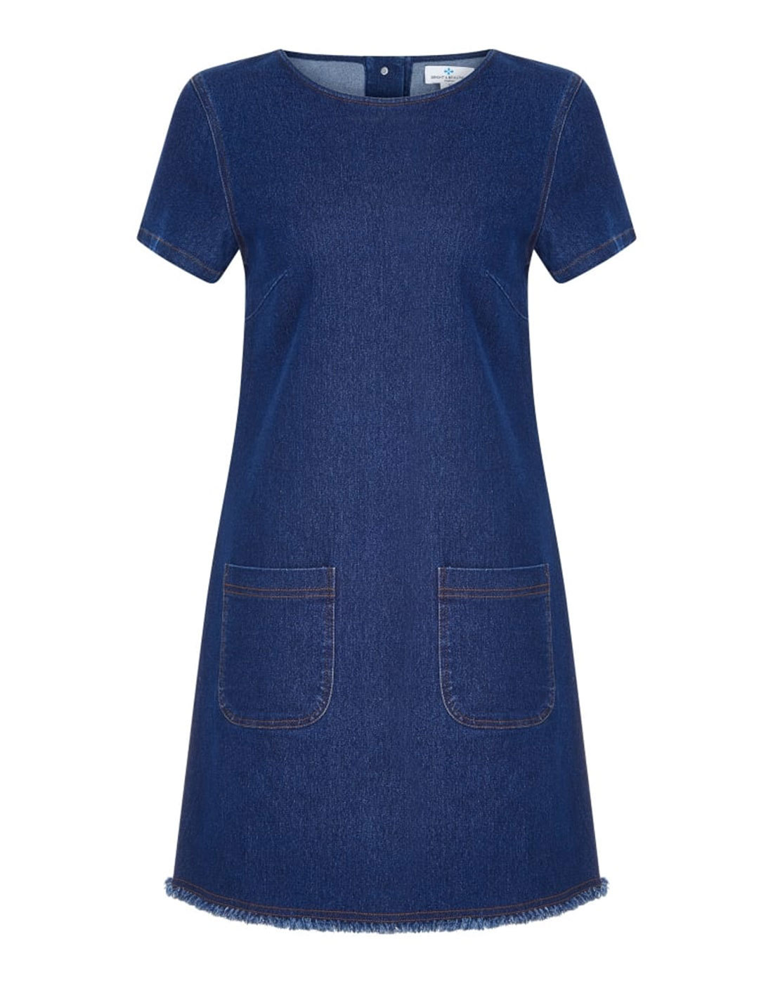 Ella BRIGHT & BEAUTIFUL Retro Denim Shift Dress