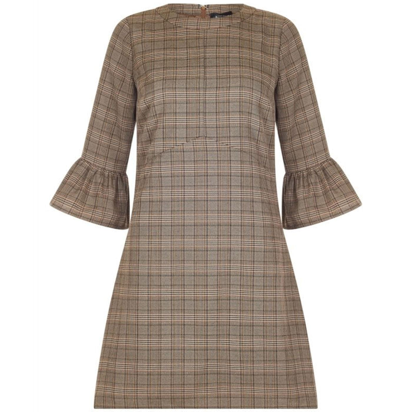 Emily BRIGHT & BEAUTIFUL Tweed Mini Dress Brown