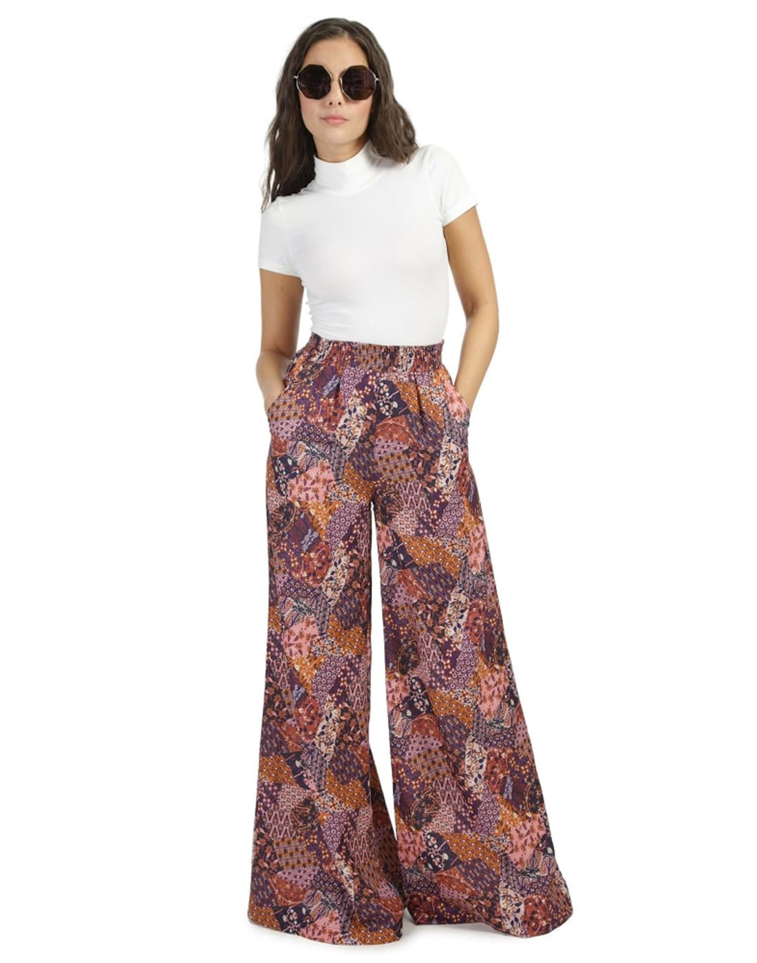 BRIGHT & BEAUTIFUL Lucy Folk Patchwork Trousers