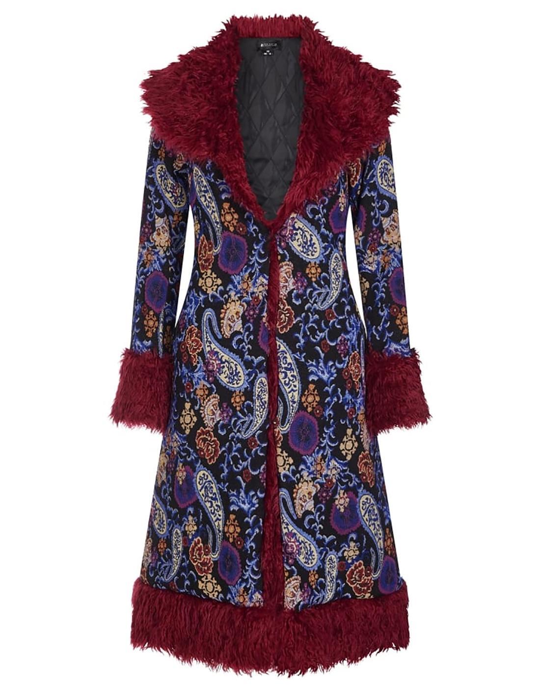 Nadia BRIGHT & BEAUTIFUL Retro 70s Paisley Coat