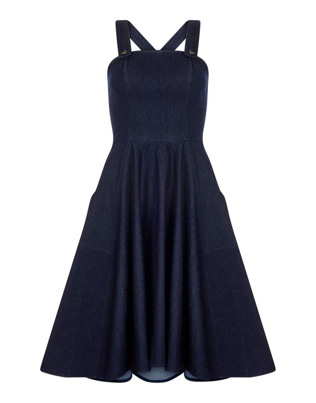 Odette BRIGHT & BEAUTIFUL Retro 70s Pinafore Dress