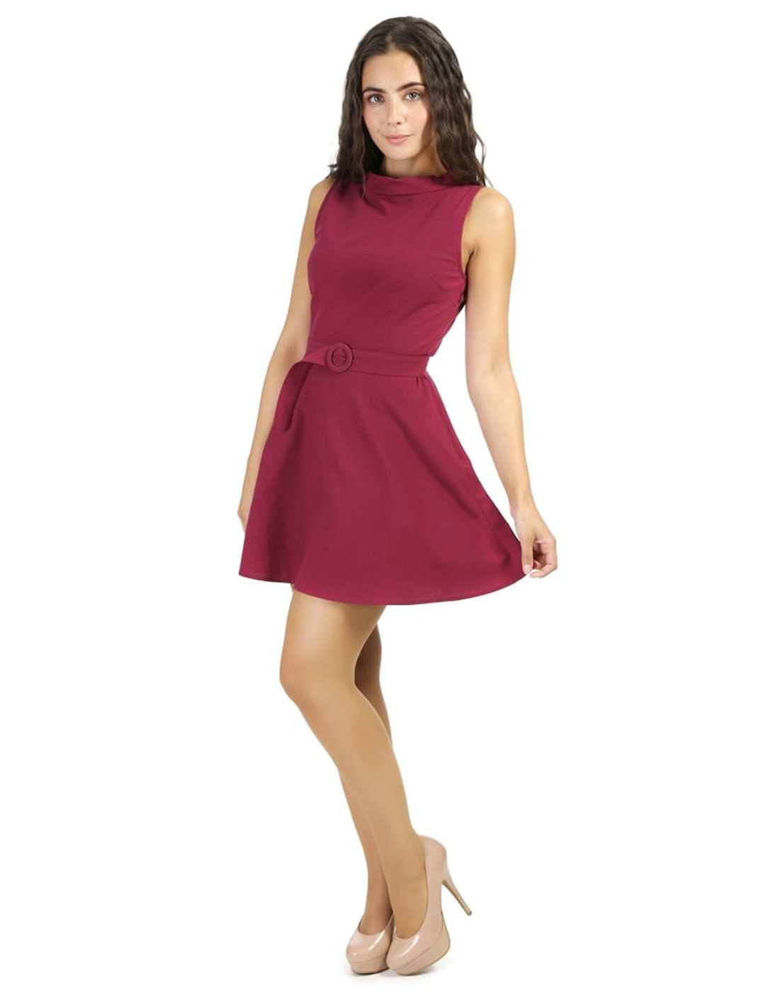 Beautiful And Bright Dining Room Ideas: BRIGHT & BEAUTIFUL Ruth Retro 60s Mod Dress In Plum