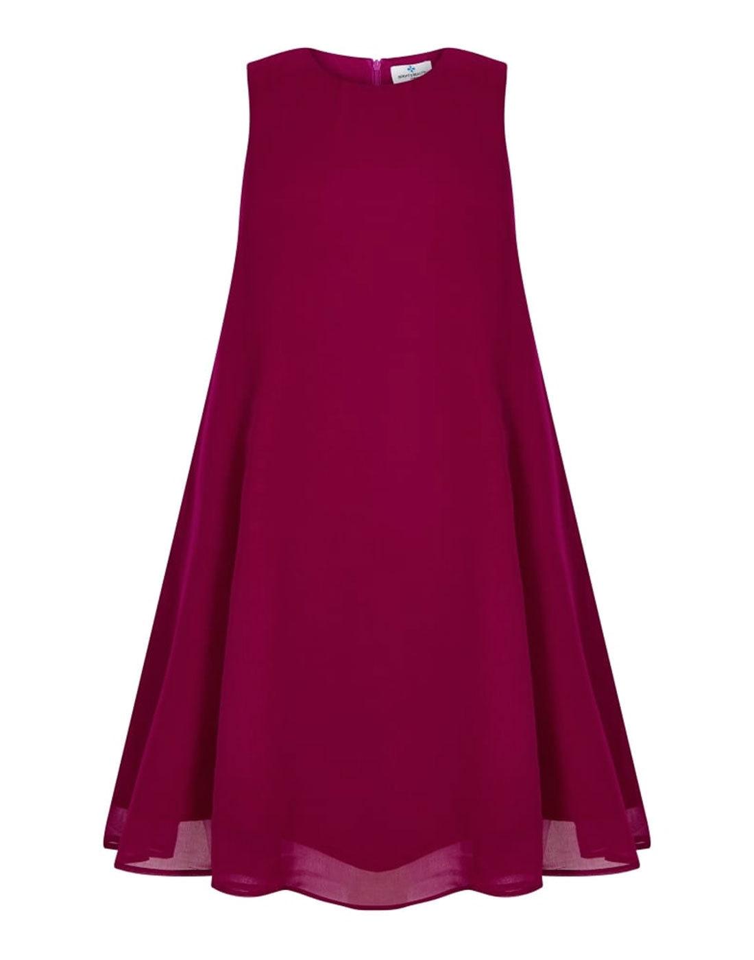 Tessa BRIGHT & BEAUTIFUL Baby Doll Dress Fuchsia
