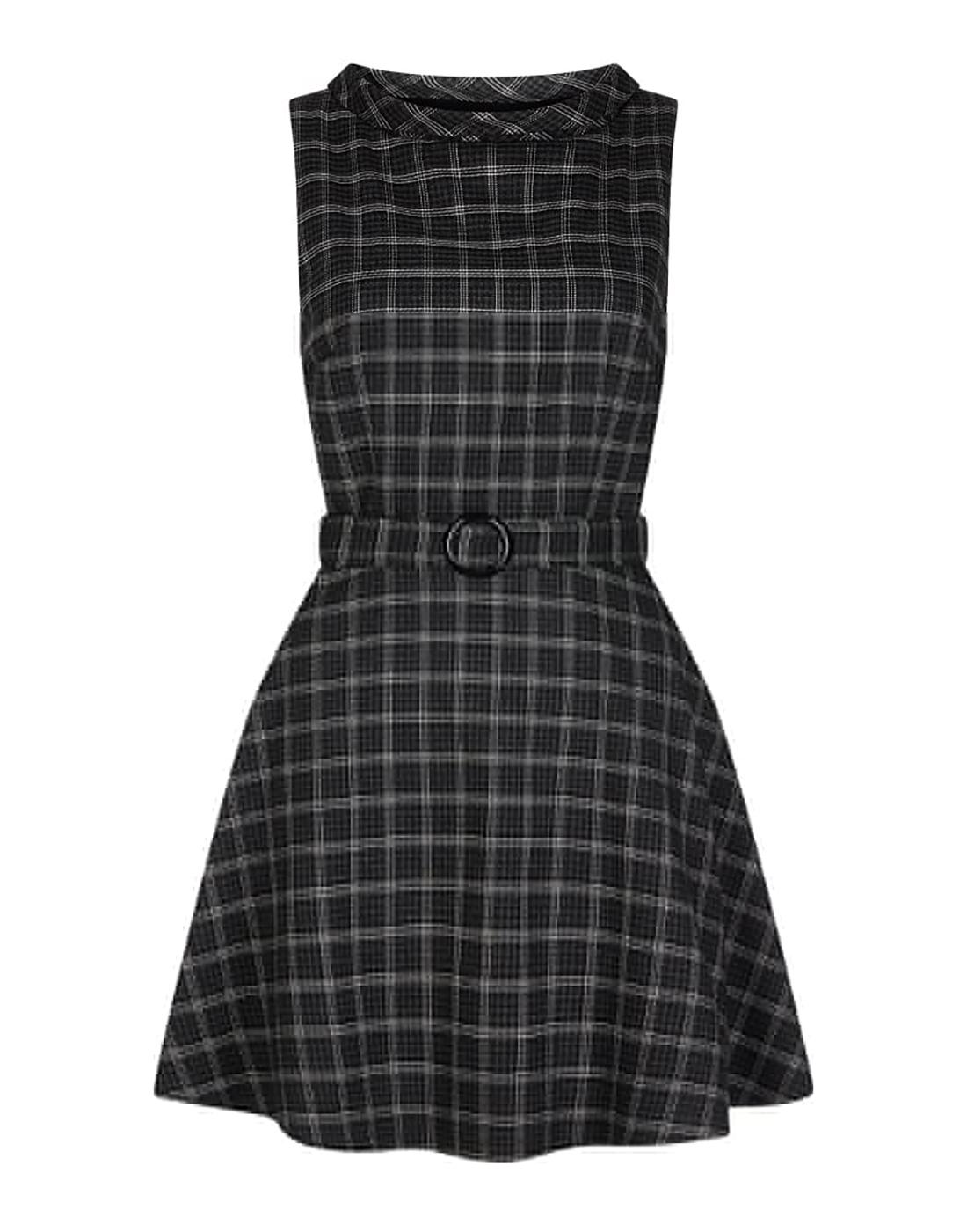 Ruth BRIGHT & BEAUTIFUL 60s Mod Dress - Grey Check
