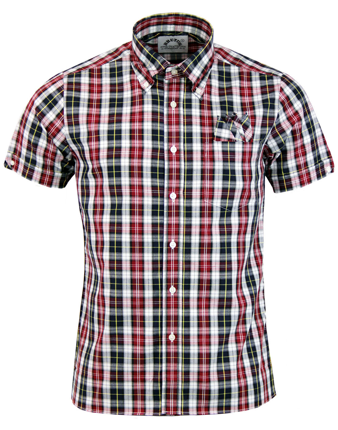 BRUTUS TRIMFIT Mod Button Down Graph Check Shirt