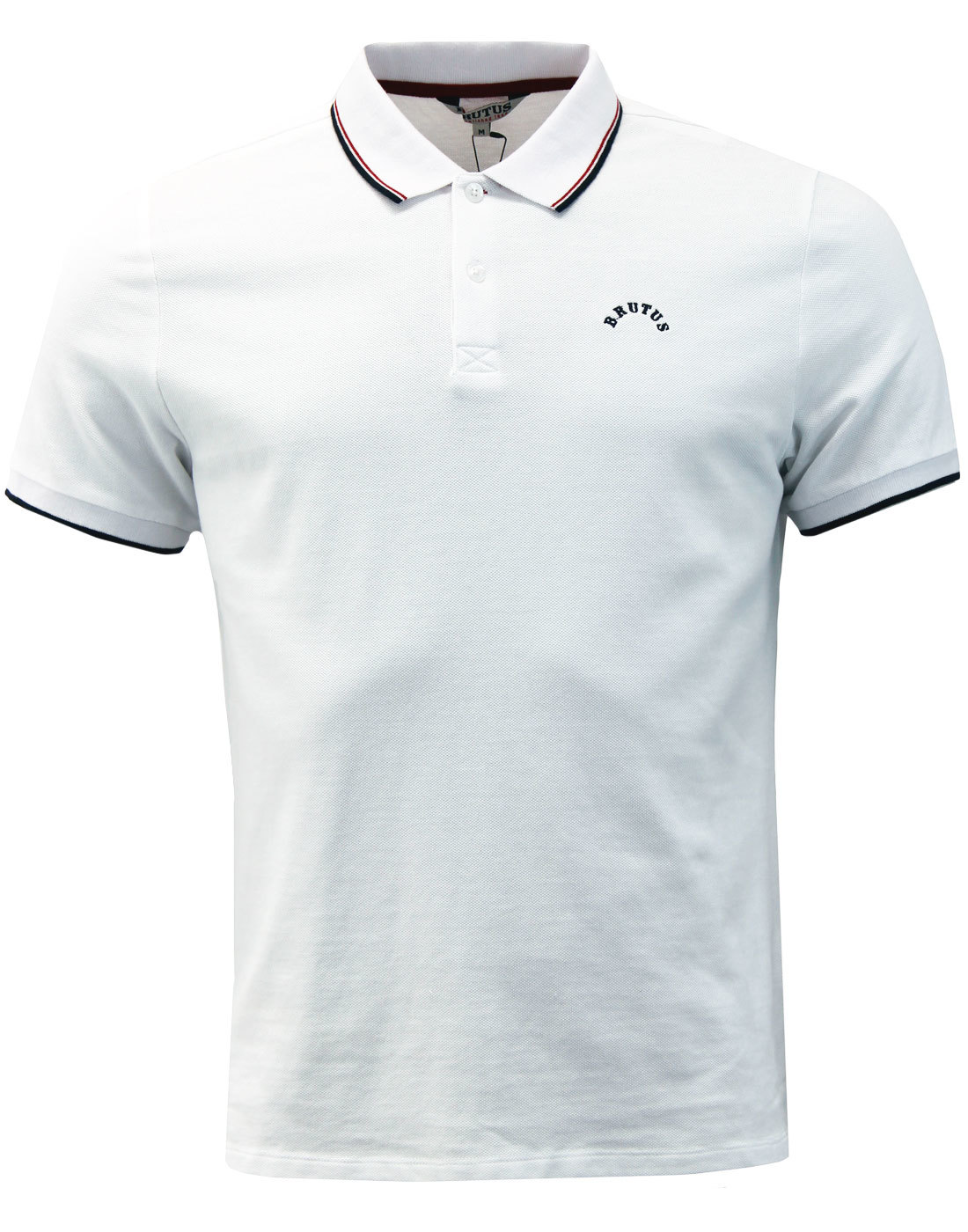 BRUTUS TRIMFIT Mod Twin Tipped Pique Polo Shirt W