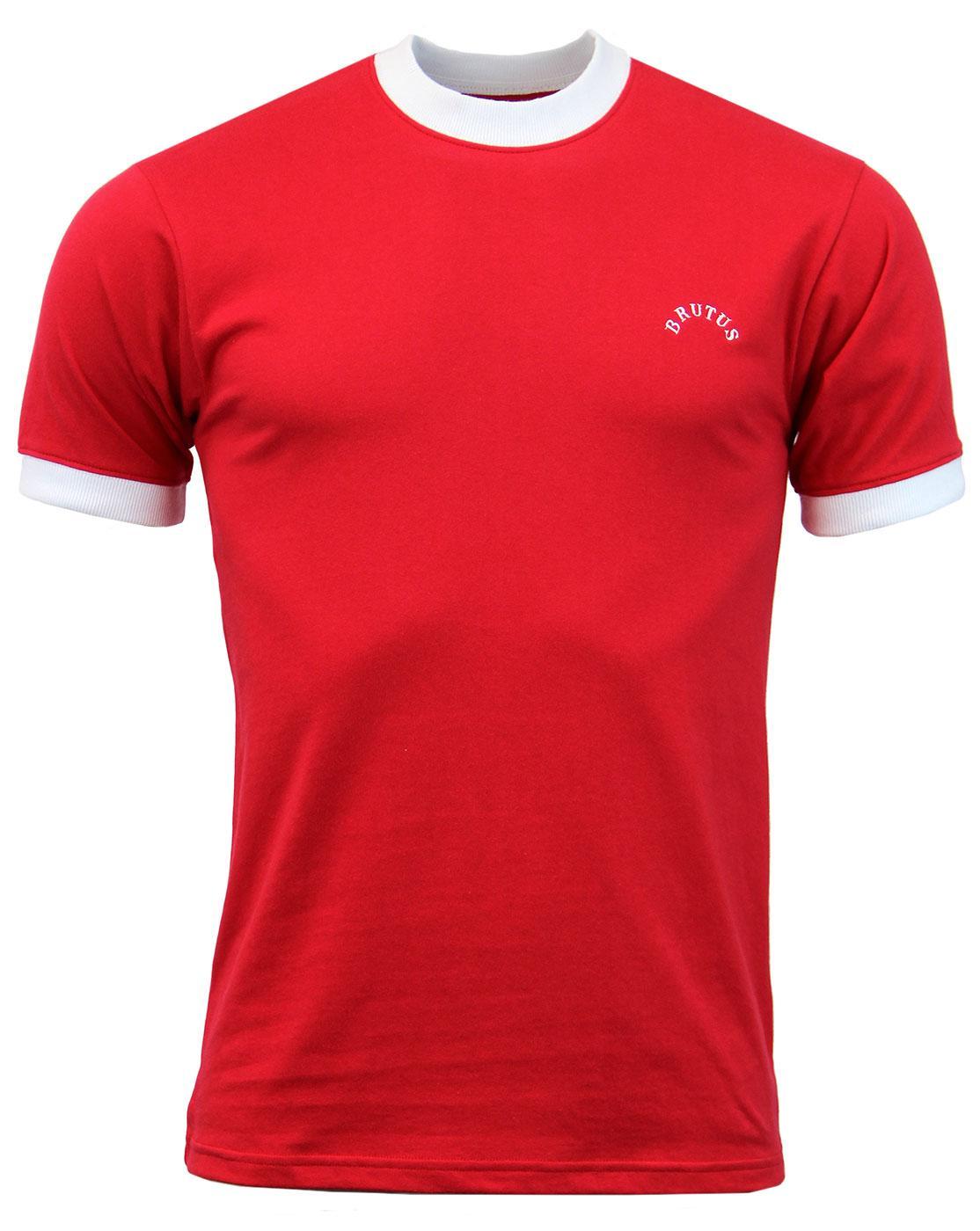 BRUTUS Mens Retro 70s Ringer Jersey T-Shirt