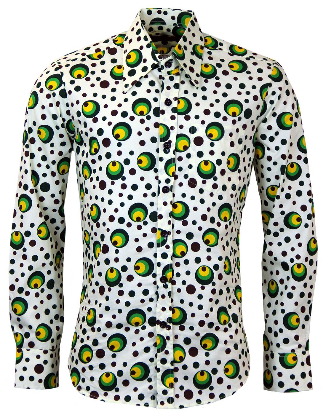 Dot CHENASKI Retro Seventies Op Art Mod Shirt G