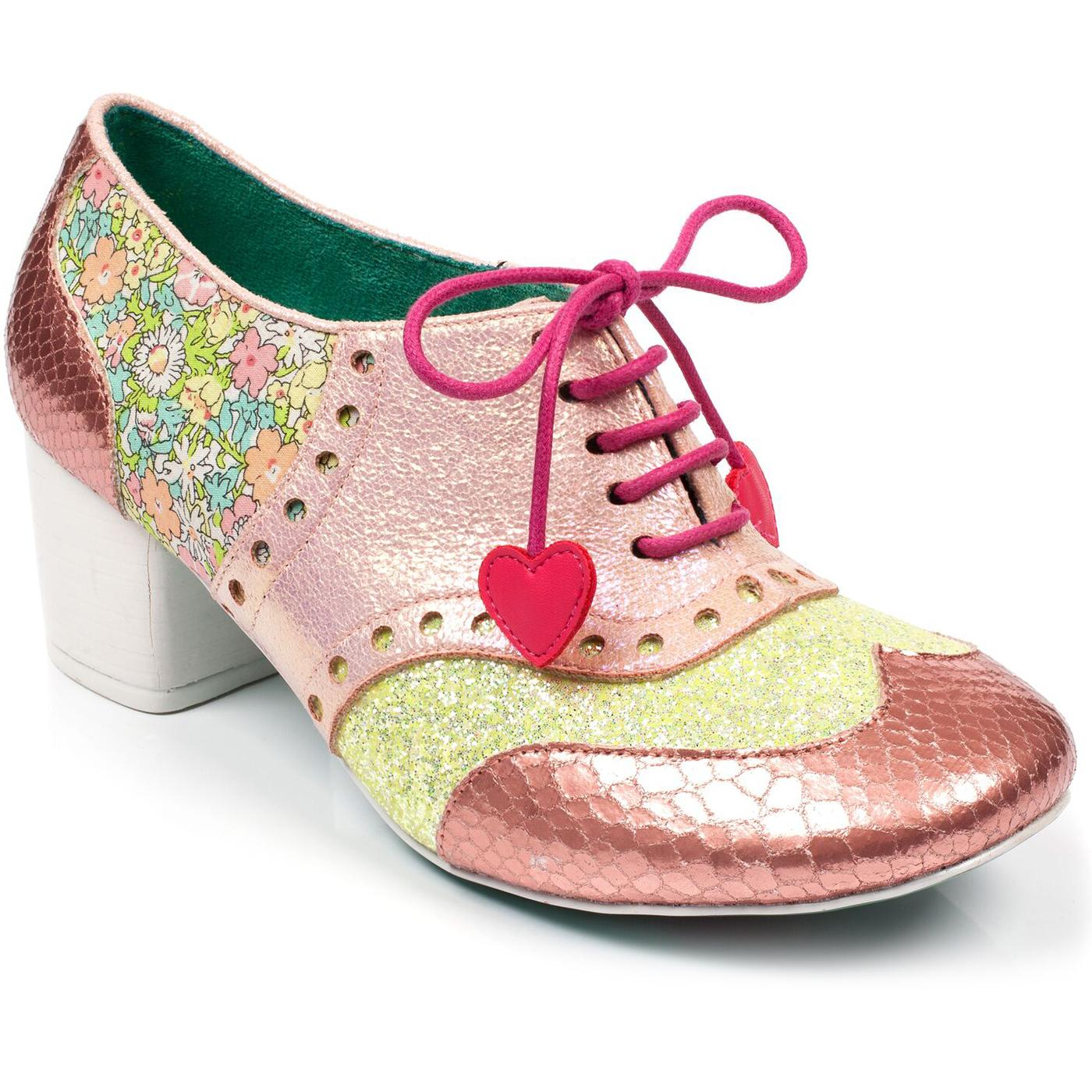 Clara Bow POETIC LICENCE Mod Brogue Heels in Pink